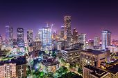 Houston, Texas, USA downtown city skyline. poster