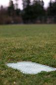 Service Panel At Baseball Diamond On Grass Field