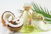 Постер, плакат: Coconut Products With Fresh Coconut