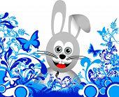 Blau Floral Bunny