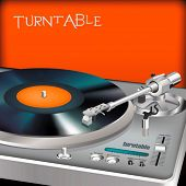 Dj turntable - vector
