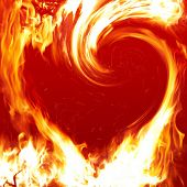 stock photo of valentine love  - Blazing heart - JPG