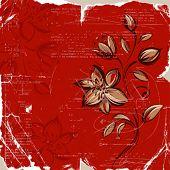 Fondo floral Grunge