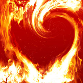 pic of valentine heart  - Blazing heart - JPG