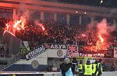 Fc Besiktas Supporters Burn The Fires