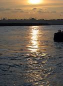Sunset seascape, Istanbul