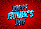 Happy Fathers Day Comic Text Pop Art poster