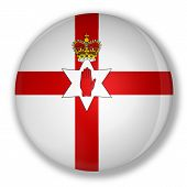 Badge With Flag Of Northern Ireland