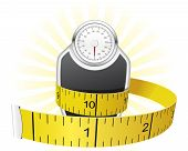 image of tape-measure  - Dieting concept  - JPG