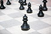 The Big Chess Board On The Ground