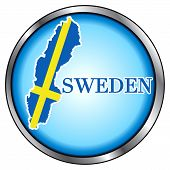 Sweden Round Button