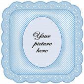 Blauwe oogje Lace Frame