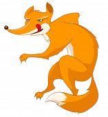 Cartoon personagem Fox isolado no fundo branco. Vector.