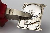 Hard Disk Drive Cutted