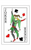 The Beautiful Card Of The Joker In Classic Style. poster