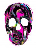 psychedelic scull background poster