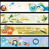 Floral Web Banners