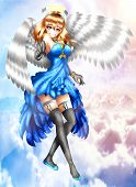 Jacobel, Is A Charismatic And Cheerful Angel, Anime Style. poster