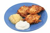 Potato Pancakes Isolated
