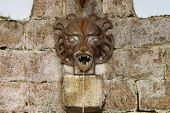 Medieval wall fountain