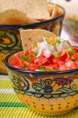 Spicy Salsa With Tortilla Chips
