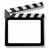 Blank Film Slate Or Clapboard