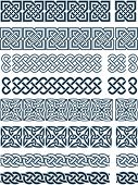 foto of celtic  - Elements of design in Celtic style in a vector - JPG