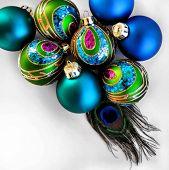 Holiday Peacock Ornaments