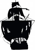Black Ship Of Pirates.eps
