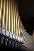 picture of pipe organ  - An organ in the church  - JPG