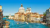 Venice, Italy. Scenic Panoramic View Of The Grand Canal With Basilica Santa Maria Della Salute. Veni poster