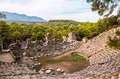Stone Amphitheater In Ancient City Of Phaselis Faselis . Historical Landmark Faselis - City Of Ancie poster