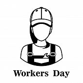 May 1 - Labor Day Logo For Poster, Banner, Brochure . May 1-labor Day On A White Background With A B poster