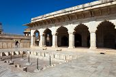 stock photo of khas  - Beautiful Khas Mahal at the famous Agra Fort in Uttar Pradesh India - JPG