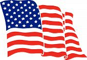 stock photo of american flags  - Scalable vectorial image representing the american flag - JPG