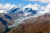Alpine Glacier Melting In The Swiss Alps