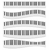 Piano Keyboard Image Set. Instruments Set To Produce Sounds, Piano, Electric Piano, Clavichord Colle poster