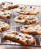 image of doughy  - cookies cooling on cooling rack - JPG