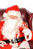 Santa enjoying a drink