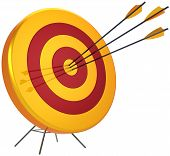Concepto de negocio objetivo éxito disparo