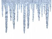 foto of icicle  - Icicles over white background  - JPG
