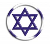 Israel button shield on white background