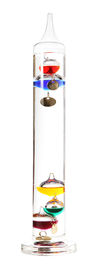 foto of galileo-thermometer  - Galileo thermometer on the white background - JPG