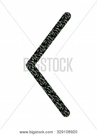 poster of Kenaz. Ancient Scandinavian Runes Futhark. Used In Magical Scripts, Amulets, Fortune Telling. Scandi