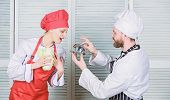Will You Eat My Meal. Culinary Family. Woman And Bearded Man Cooking Together. Cooking Exclusive Mea poster