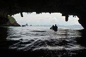 Sea Canoe Over Cave