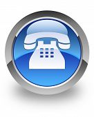 Telephone glossy icon