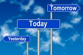 Yesterday Tomorow Today Sign