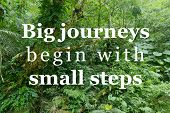 Big Journeys Begin With Small Steps. Motivational Quote Poster. Success Motivation. poster