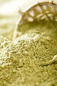 matcha green tea powder , shallow dof